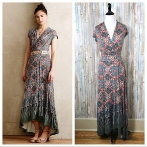 Anthropologie S Maeve Knit Desert Star Maxi Dress
